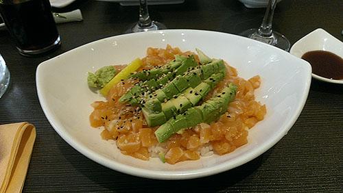 shiso tartare de saumon