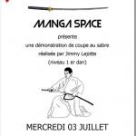 Démonstration de Iaido au Manga Space