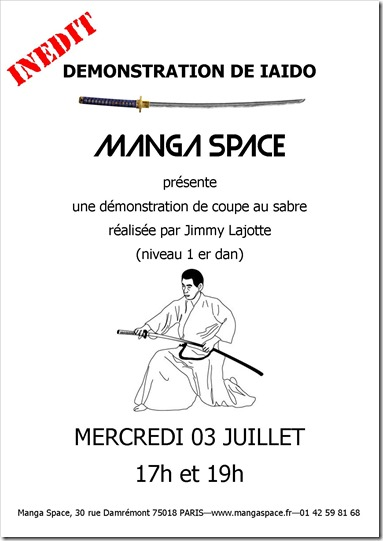decoupe au sabre manga space
